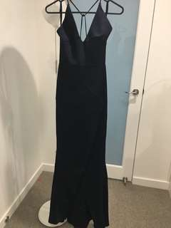 Navy maxi dress/gown