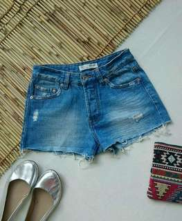 Stradivarius Boy Fit Denim Shorts