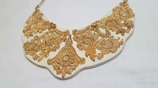 F21 Gold and White Necklace