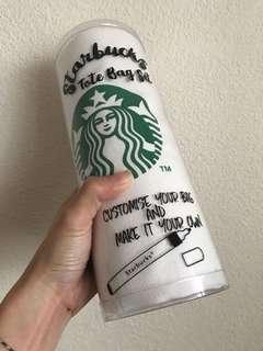 Starbucks tote bag set