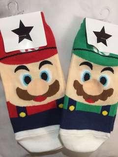 Mario and Luigi Socks