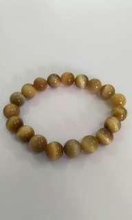 Natural Crystal bracelet金黄虎眼水晶手串