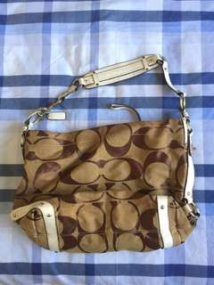 Authentic Coach Shoulder Bag (Canvas/Hobo Bag)