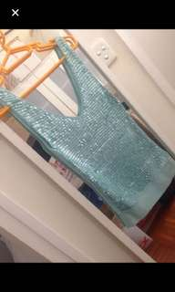 Brand new Aqua sequinned top by MNG