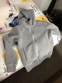 Uniqlo fleece jacket with hoodie