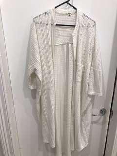 White midi kimono