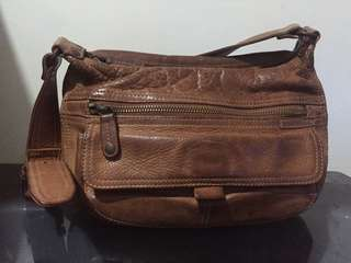 Almost Vintage British Tan Shoulder Bag