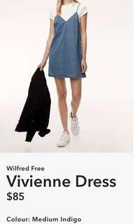 Wilfred Free Vivienne Denim Dress XS