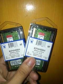 Kingston 4GB 2400 mhz DDR4 laptop ram REPRICED