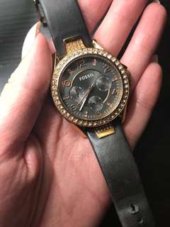 Rose Gold & Grey Fossil Watch
