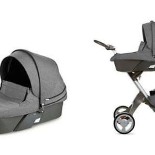 Complete Set! Stokke Xplory V4 in Grey Melange! Incl Car Seat etc