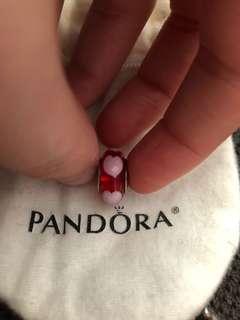 Pandora murano glass heart charm