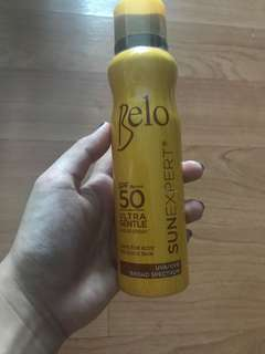 Brand New Unused Belo SunExpert Ultra Gentle Sheer Spray SPF50