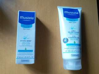 全新 Mustela Cleansing Gel & facial cream