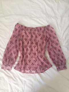Floaty Bardot top BNWT