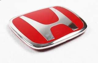 Honda back red enblem