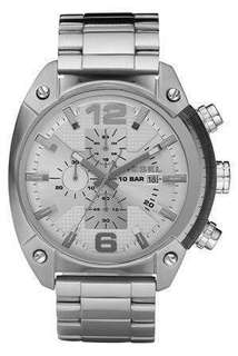 DIESEL Overflow Watch in Silver GREAT + OFFERS ARE WELCOME