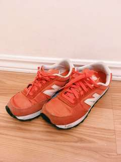 New balance orange sneakers