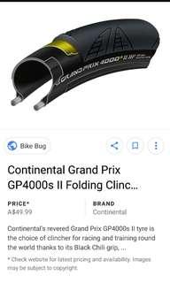 Continental Gp4000s 2   23mm (2pcs)