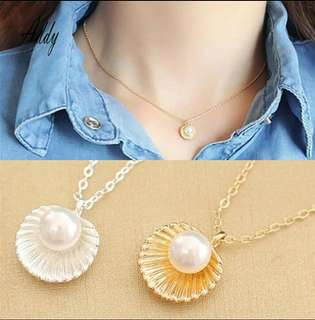 Pearl Shell Charm Necklace