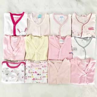 Bundle 12 pieces preloved baby girl clothes (0 to 6 months)