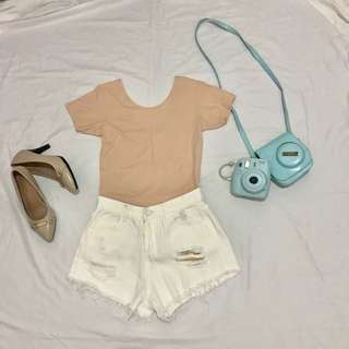 Nude Scoopback Shirt