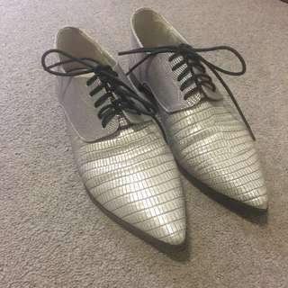 SENSO Jax I Silver Pointed Oxford Shoes