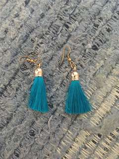 Bluet tassel earrings