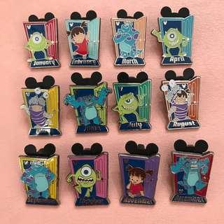Disney Pins - 迪士尼襟章(一套12個)