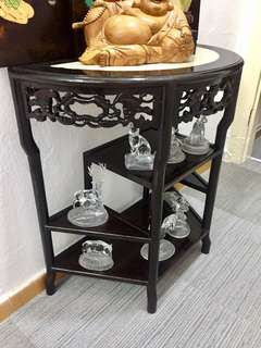 Ebonised Demilune Console