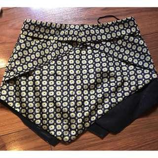 Floral Overlap Skirt