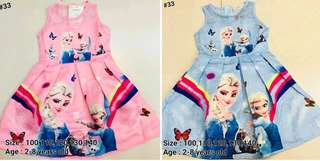 Shop : FROZEN GIRLS DRESS 2 to 8 years old