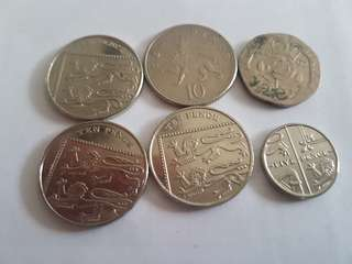 British pounds (coins)