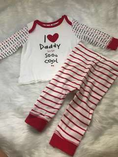 Mothercare I Love Daddy Set 0-3 Mons