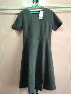 Uniqlo Grey Stretch Dress - size S