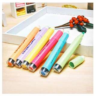 6pcs CRAYON DESIGN HIGHLIGHTER