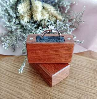 🚚 Handmade Wooden Slim Ring Box - Mahogany #CarouPay
