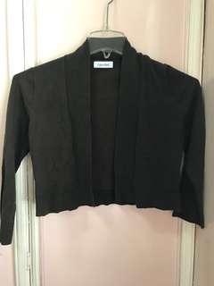 Calvin Klein Dark Brown Bolero/Sweater - size S