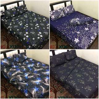 Fitted bed sheet comforter set