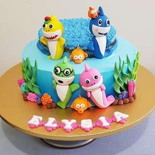 Customised cake/ baby shark