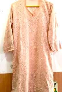 Tunik sari india warna peach