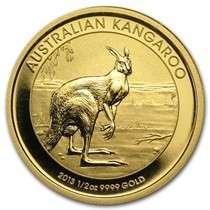2013 Australian Gold Kangaroo Nugget coin - 1/2 oz