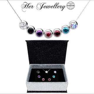 💎BN Her Jewellery 7 Days Moon Pendant (Crystals from Swarovski)