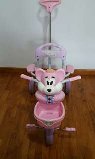 Preloved Pink Toddler Tricycle With Foot Rest / Trade