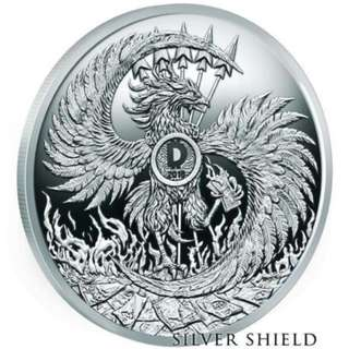 "2018 Silver Shield MARK OF THE BEAST -1 oz- #13 in ""Death of the Dollar"" Series"
