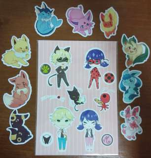 Assorted doujin items (stickers)
