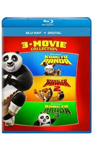 Kung Fu Panda: 3-Movie Collection Bluray (New, Mint-wrapped n Not Open)