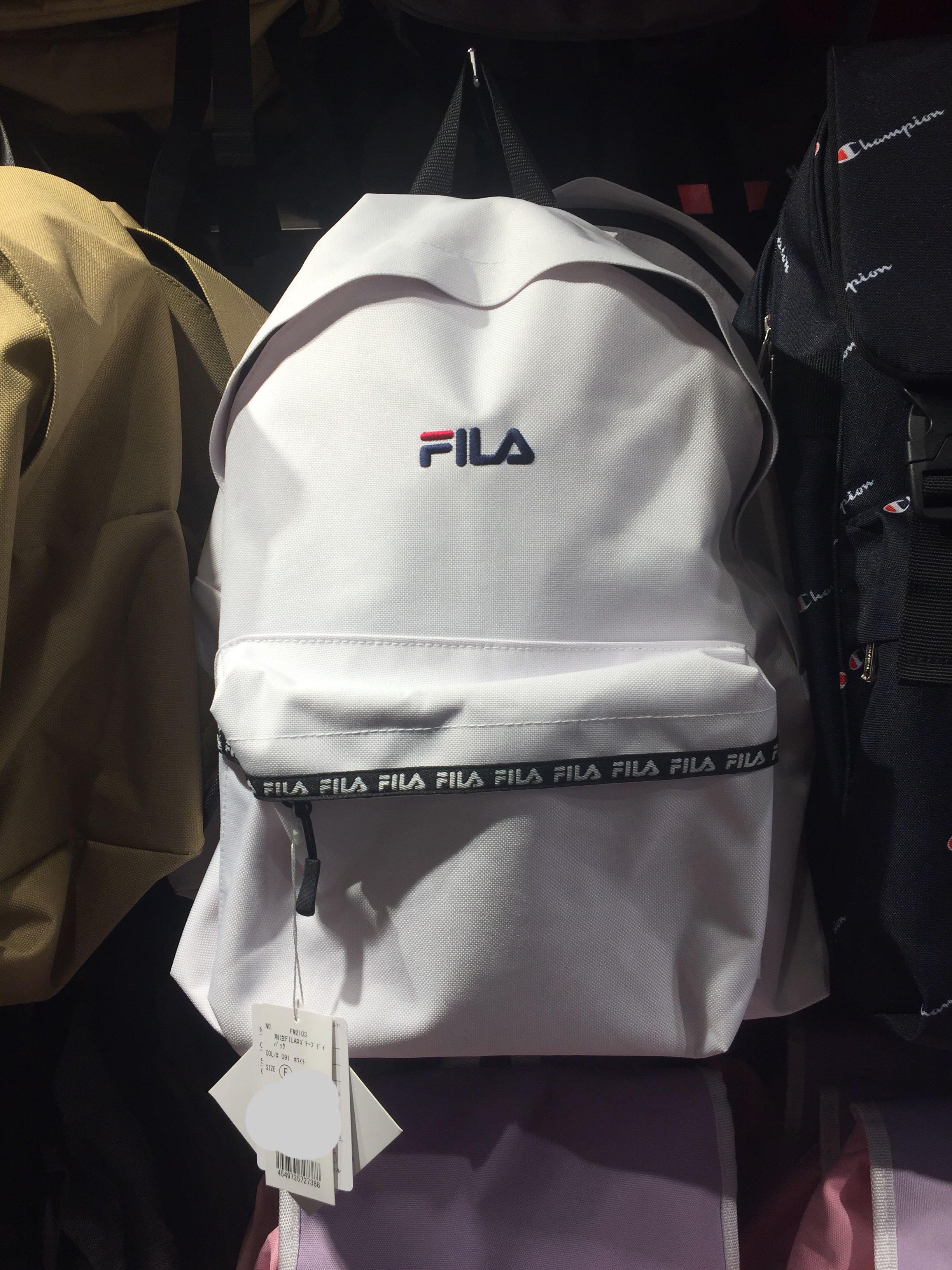 71f8c0fc4574 100% Original FILA school bag