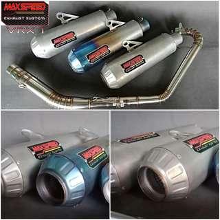 Knalpot Max Speed R15 cbr vixion gsx cb150r dll