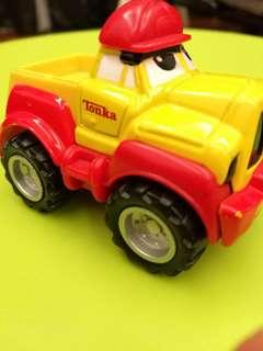 Yellow Red Metal Pickup Truck Maisto Tonka Hasbro